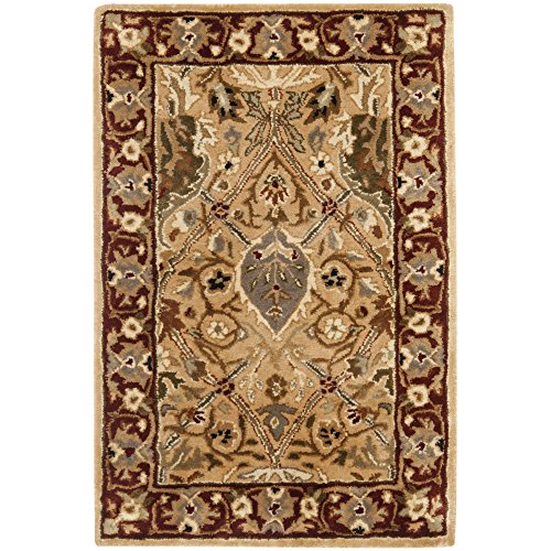 Safavieh Persian Legend Collection PL519D Handmade Traditional Ivory and Rust Wool Area Rug (2′ x 3′)