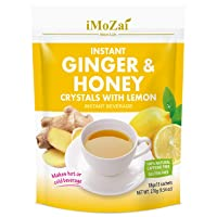 Imozai Ginger Honey Crystals Instant Tea Lemon Flavor 15 Sachets 9.54 Ounce (Pack...