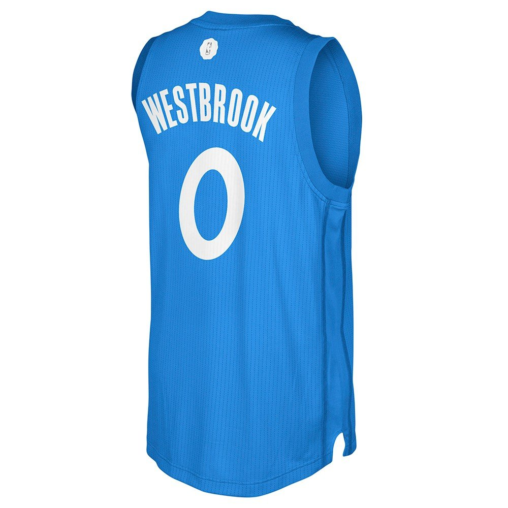 Amazon.com : adidas Russell Westbrook #0 OKC Thunder Adult 2016 X ...