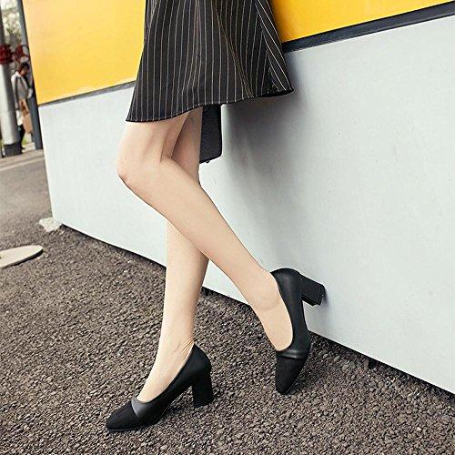 Scarpe Hatop, Moda Donna Elegante Elegante Tacco Alto Scarpe A Punta Scarpe Casual Scarpe Da Sposa Nere