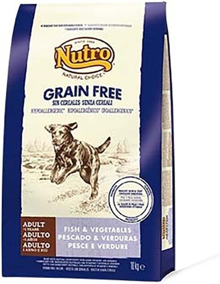 NUTRO - Pienso para Perros Adultos pequeños, medianos y Grandes Natural Choice Grain Free Pescado y Verduras: Amazon.es: Productos para mascotas
