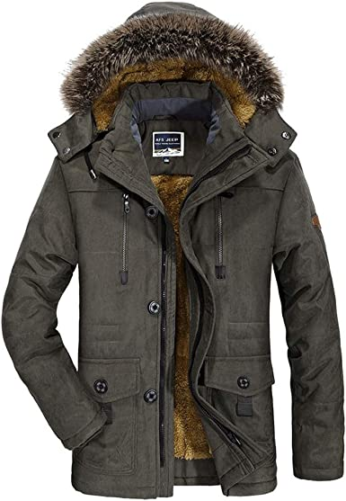 Ladies Fleece Lined Warm Thick Padded Fishtail Parka Coat Jacket
