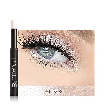 FOCALLURE 12 Colors Pro Highlighter Shimmer Eyeshadow Pencil Waterproof Eyeliner Pen Flash Colors Long Lasting Waterproof