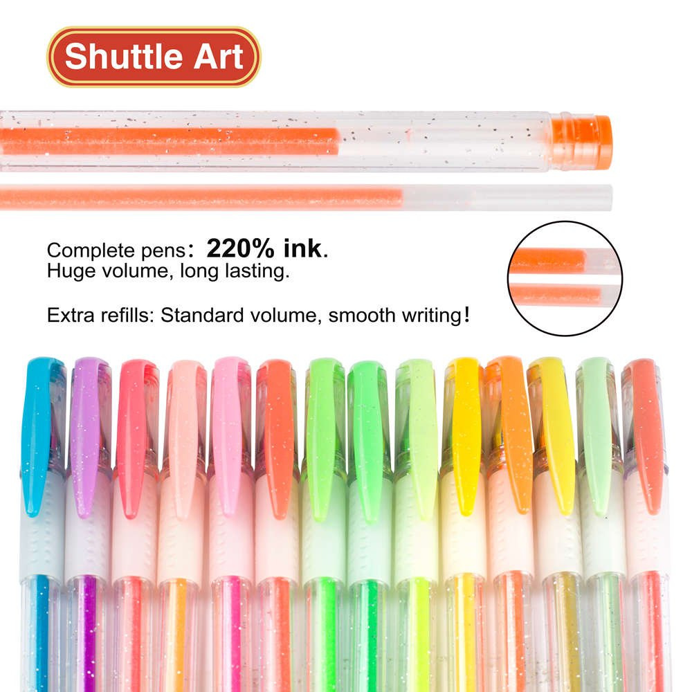 shuttle art 80 colors glitter gel pens 40 colors glitter gel pen