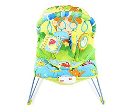48c267cc87b Luvlap Go Fishing Baby Bouncer with Soothing Vibration and Music (Multi  Color)