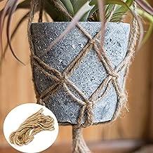 Bazaar 40 Inch Flowerpot Plant Hanger Macrame Jute Rope Indoor Outdoor Decorative Cord