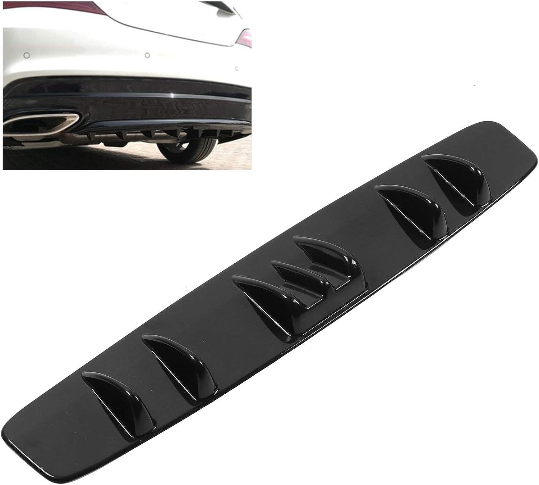 Universal Rear Spoiler Shark Fin Tail Bumper Diffuser Lip Glossy ...