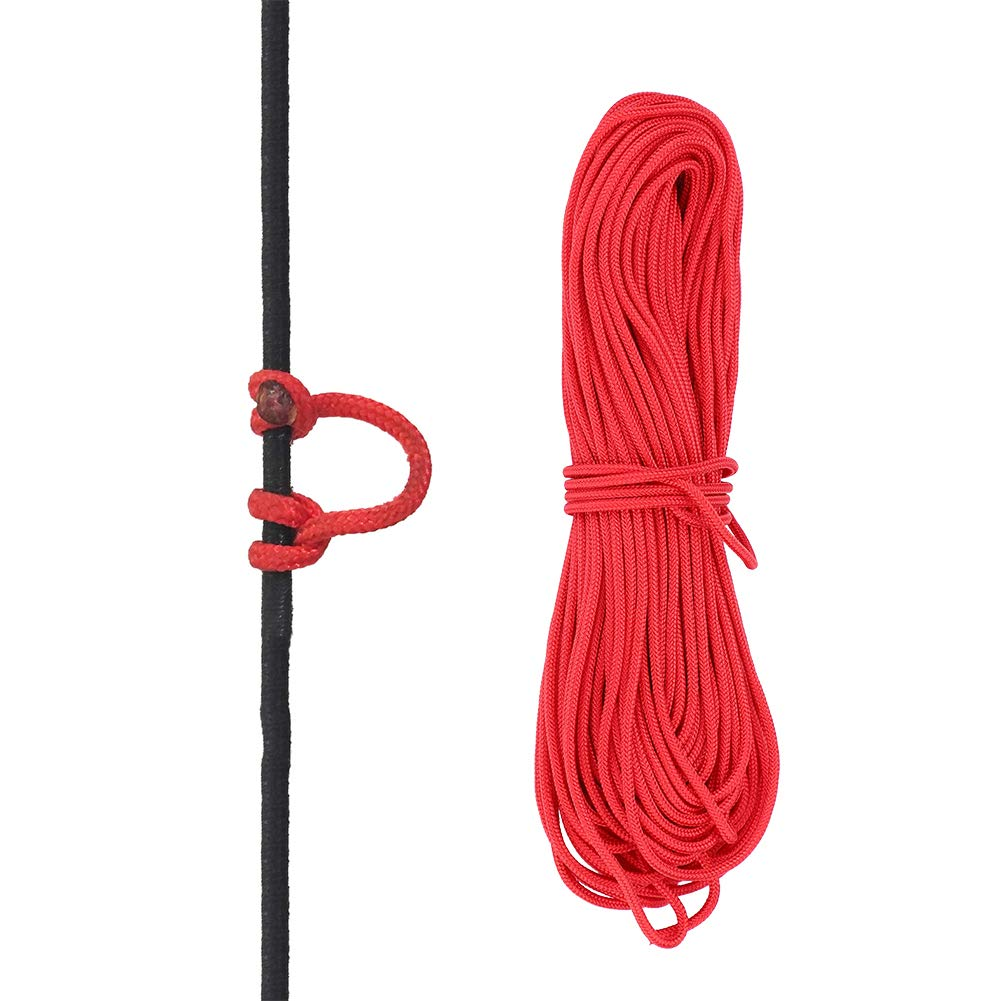 VGEBY Bowstring Loop, Archery Compound Bow D-Loop Rope Wire String Bow Release Nock Loop Accessory(Red)