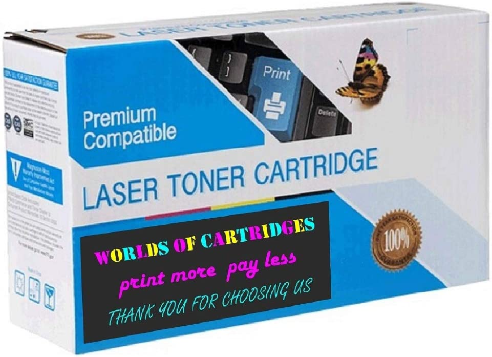 WORLDS OF CARTRIDGES Compatible Toner Cartridge Replacement for Xerox 106R03916 106R03918 Jumbo 180-182/% Higher Yield 4-Pack: Cyan + Magenta + Yellow + Black 106R03919 106R03917
