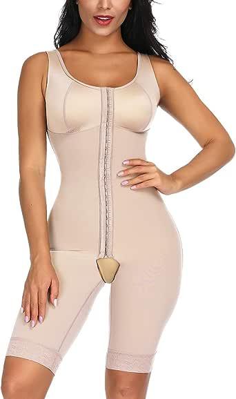 Wonder-Beauty Women's Seamless Shapewear Slimming Bodysuit Body Shaper Crotchless Body Briefer Faja Tummy Control Butt Lifter