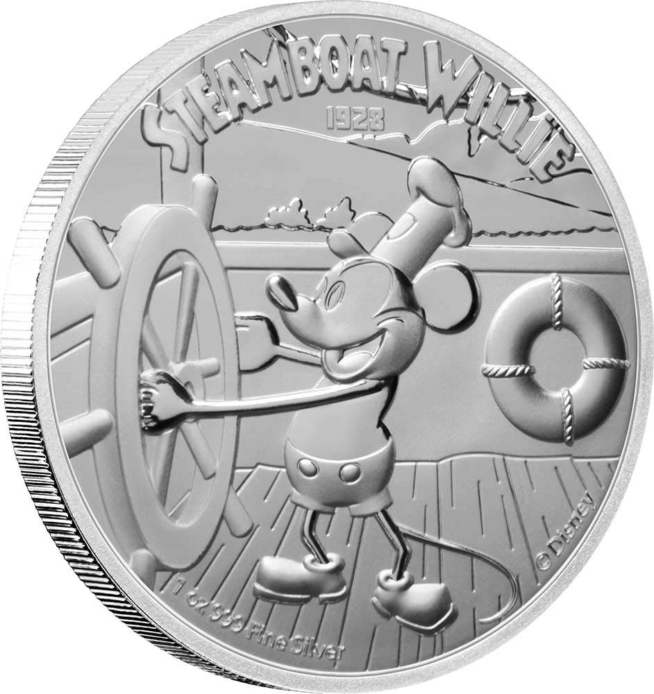 2020 NIUE $2 DISNEY MICKEY MOUSE STEAMBOAT WILLIE 1 OZ SILVER COIN  NGC PF70 FR