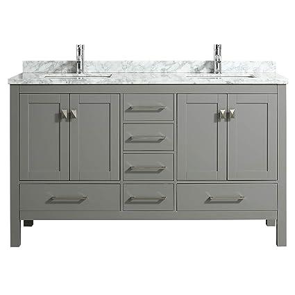 48 X 18 Bathroom Vanity.Eviva Tvn414 60x18gr London 60 X 18 Transitional Gray