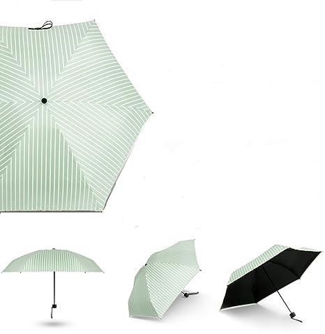 LIMISKY Paraguas automático simple Mini Paraguas Plegables de mujer 5 plegable Anti-UV Ligero Sombrilla