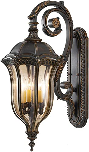 Feiss OL6004WAL Baton Rouge Outdoor Patio Lighting Wall Lantern, 4-Light, 240 Watts, Brown 12 W x 30 H