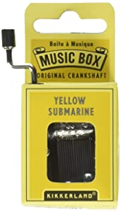Kikkerland Yellow Submarine Crank Music Box