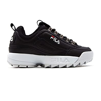 Fila Damen 101044325Y Schwarz Leder Sneakers: Amazon.de: Schuhe ...