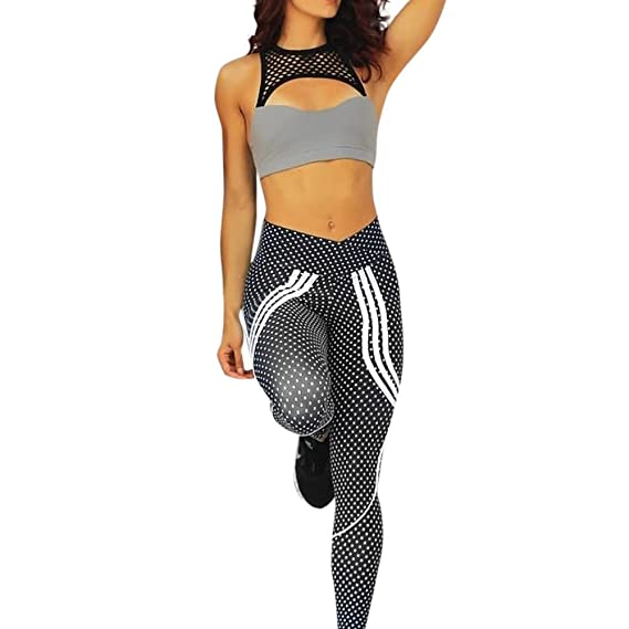 ODRD Damen Yoga Hosen Pants Frauen Frauen Punkt Trainings