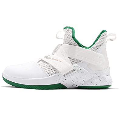 timeless design b43d0 af3a8 Nike Kids  Grade School Lebron Soldier XII Basketball Shoes (4.5, White)