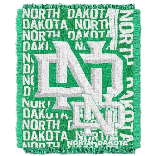 (The Northwest Company Officially Licensed NCAA North Dakota Fighting Sioux Double Play Jacquard Throw Blanket, 48
