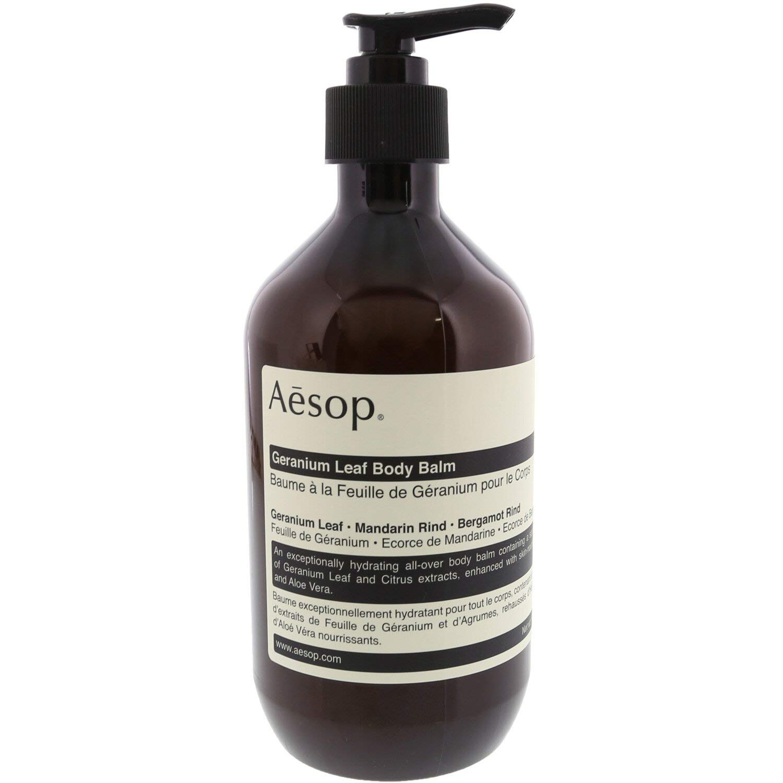 Aesop Geranium Leaf Body Balm | 500mL/16.67 oz Dry Skin Moisturizer Balm | Body Lotion Balm for All Skin Types | Paraben-free, Cruelty-free Skin Care Body Balm For Men & Women