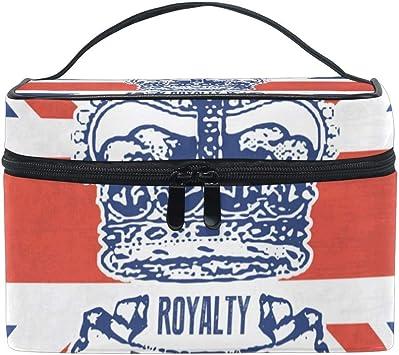 Portátil Grunge British Crown Travel Bolsa de cosméticos Bolsa de Maquillaje Estuche de Maquillaje Organizador Estuche de Tren Bolsa de Aseo con ca Grande: Amazon.es: Equipaje