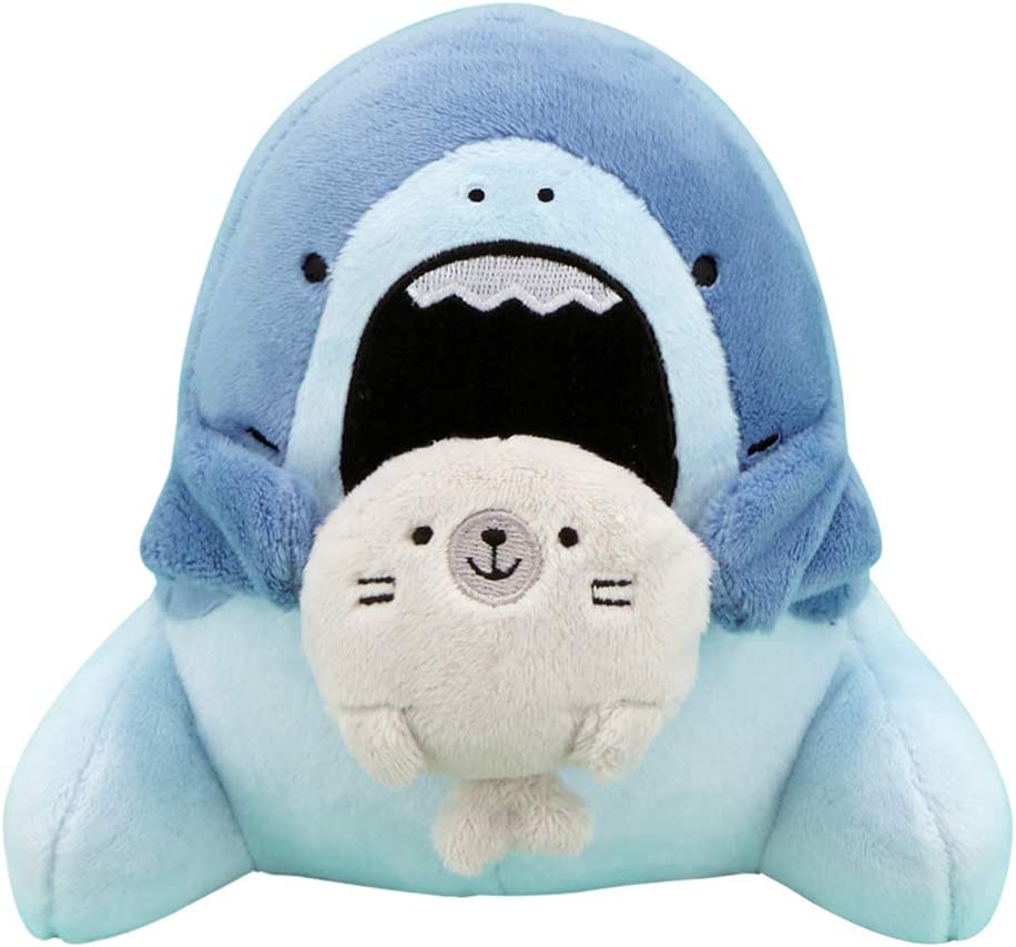 """CLEVER IDIOTS INC SAMEZU Nom Nom Plush Stuffed Animal 6.5"""" - Cute, Collectable and Cuddly Toy Character -- Ultra-Soft Polyester Fabric - Authentic Japanese Kawaii Design (Jaggy &Yummy)"""