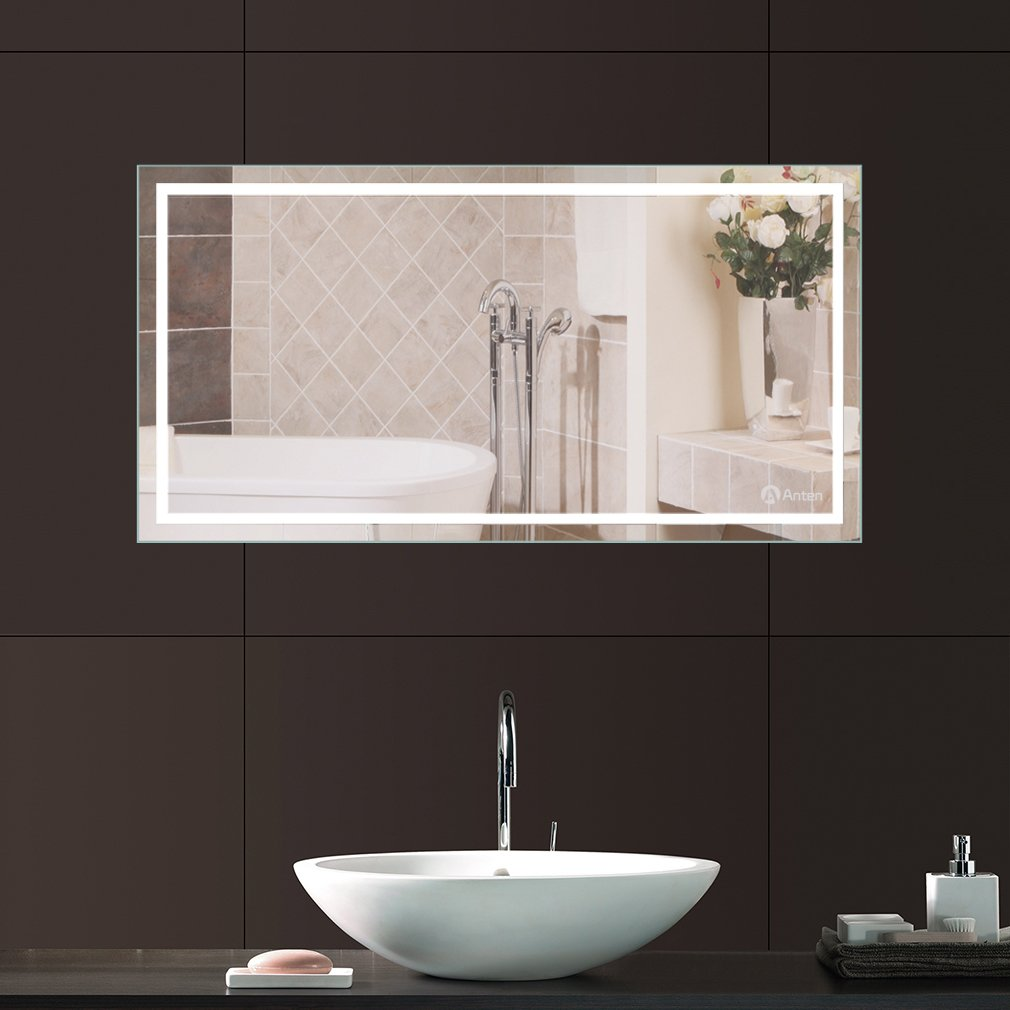 Anten miroir avec lumière led 18w 6000k design de salle de bain ...