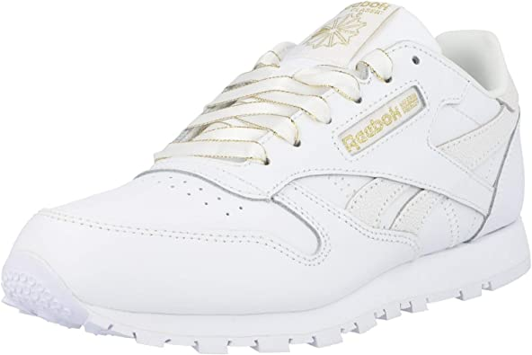 agenda Rey Lear Críticamente  Amazon.com | Reebok Classic Leather White/Chalk Leather Junior Trainers  Shoes | Sneakers