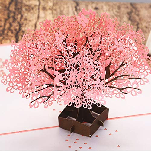 Valentines Day CHEERY BOQUET 3D pop up cards - Handmade Pop Up Greeting Cards Gift Ideas for Girlfriends Wife husband Couple, Wedding gifts Invitations Birthday Thank You cards Graduation Busine ()