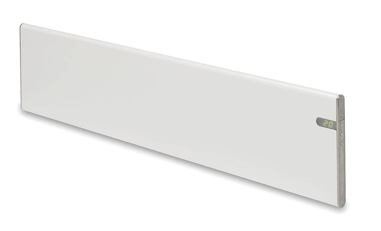 Bendex LUX Radiador eléctrico blanco, bajo perfil solo 20 cm 600W, Clase II Aislamiento reforzado IP24 para baños, soporte pared y de suelo intergrado dos ...