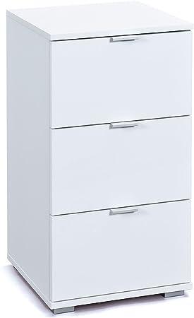 Caisson A 3 Tiroirs 40x70 Cm Coloris Blanc Laque Amazon Fr Bricolage