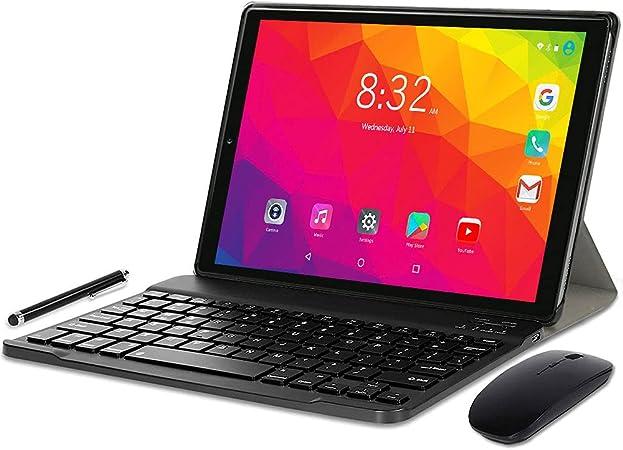 YOTOPT U10 Tablet 10 Pulgadas con Teclado y Ratón, Android 10.0 Tableta Octa-Core con WiFi, 4GB RAM, 64GB ROM, 128GB Expandible, 4G LTE Dual SIM, ...