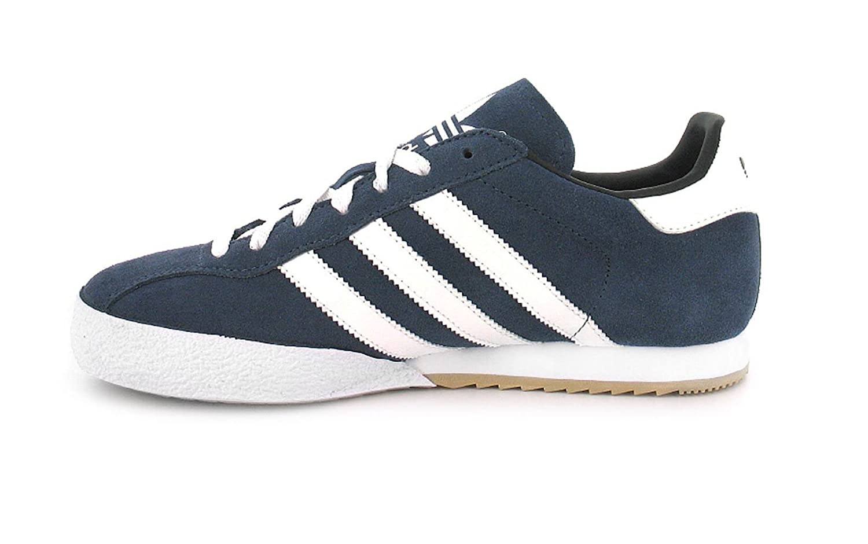 adidas Hombre Sam Super Suede Zapatillas - Azul marino/Blanco, 11 UK / 46 EU
