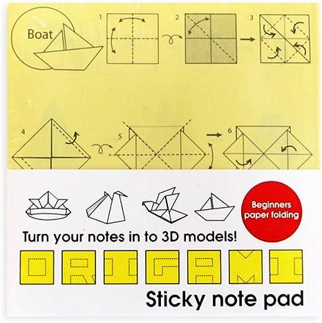 Sticky-note Origami Squid by pecatrix on DeviantArt | 465x466
