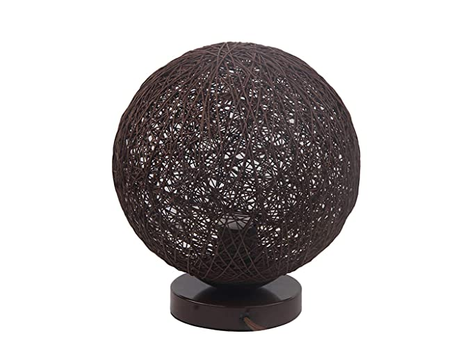 tischlle uchte Bilbao, bolas de ratán marrón, diámetro de 25 cm, con filamento
