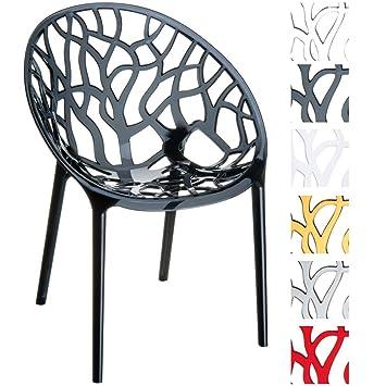 Design Gartenstuhl | Clp Design Gartenstuhl Crystal Aus Kunststoff I Wetterbestandiger