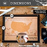 Hunting and Fishing USA Scratch Map - Perfect Gifts