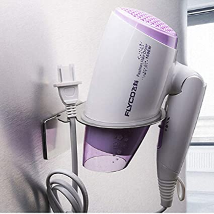 HPPSLT Hair Salon Wall Hanging Hair Dryer Bracket Stainless Steel Hair Dryer Bracket Hotel Hair Dryer Rack