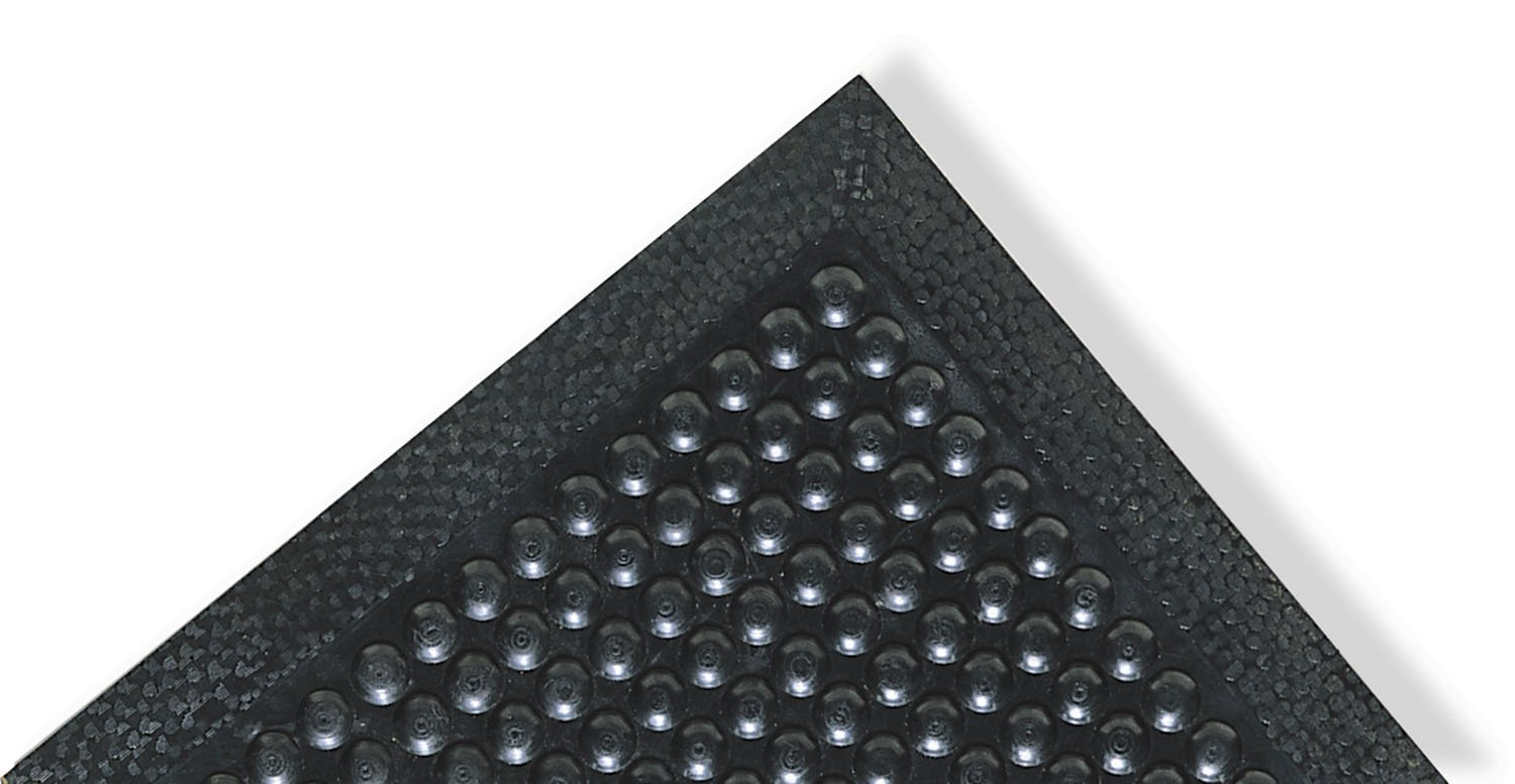 NoTrax Rubber 447 Comfort-Eze Anti-Fatigue Drainage Mat, for Wet Areas, 30'' Width x 10' Length x 3/8'' Thickness, Black