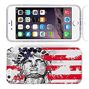 America Flag Design Pattern HD Durable Hard Plastic Case Cover for iphone 6 Plus