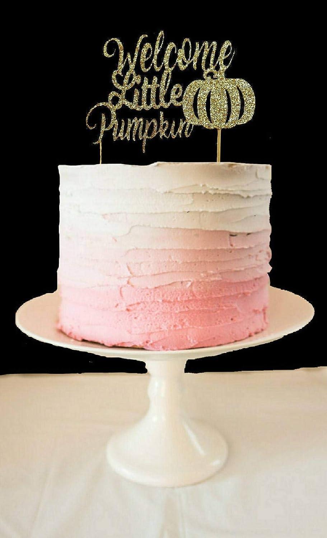 Little Pumpkin Baby Shower Topper Fall Baby Birthday Topper Welcome Little Pumpkin Cake Topper