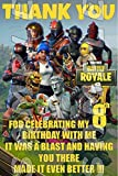 Fortnite 4x6 Birthday Thank You Cards w/Envelopes #1