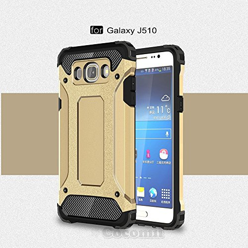 Slim Armor TPU Case for Samsung Galaxy J5 (Gold) - 6