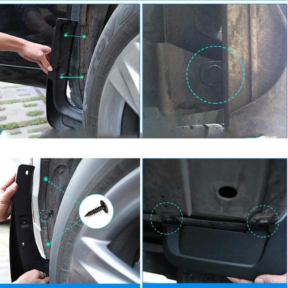 1990-2007 4pcs pare-boue de voiture bavettes garde-boue en caoutchouc pour Toyota LAND CRUISER LC80 garde-boue avant et arri/ère de garde-boue en caoutchouc kit garde-boue universel