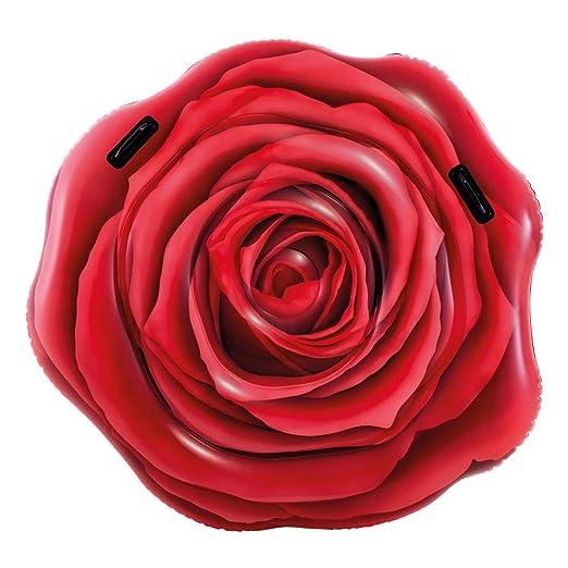Intex 58783EU - Rosa Roja Hinchable fotorrealista con asas: Amazon ...