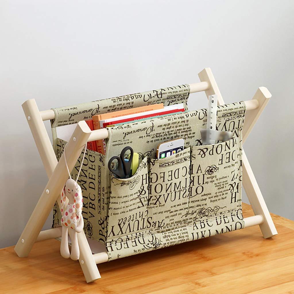 LQwjj Archivadores con Espiral Caja Caja Caja de Almacenamiento de Mesa de Tela de múltiples Capas para el hogar, escombros de Oficina extraíbles y Lavables de Madera. Archivadores con Espiral 7165ca