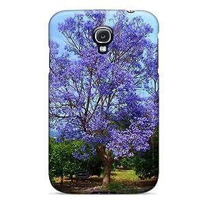 New Premium Flip Case Cover Blue Tree Skin Case For Galaxy S4