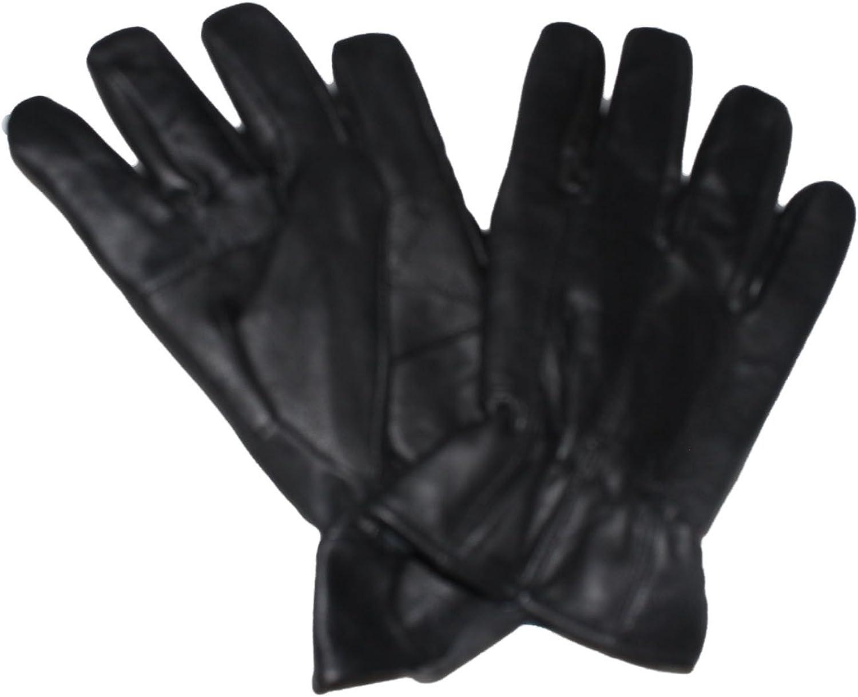 Mens sheepskin Leather Gloves,Black,