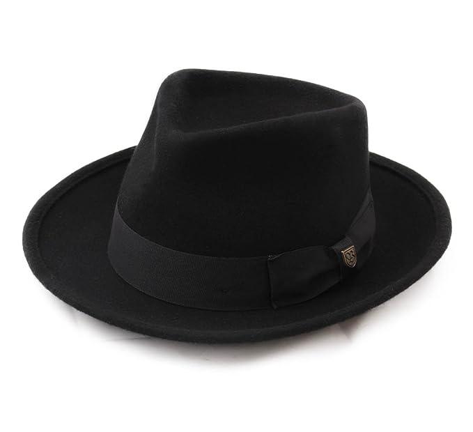 0808d3f2034 Brixton Swindle Wool Felt Trilby Hat Size L  Amazon.ca  Clothing ...