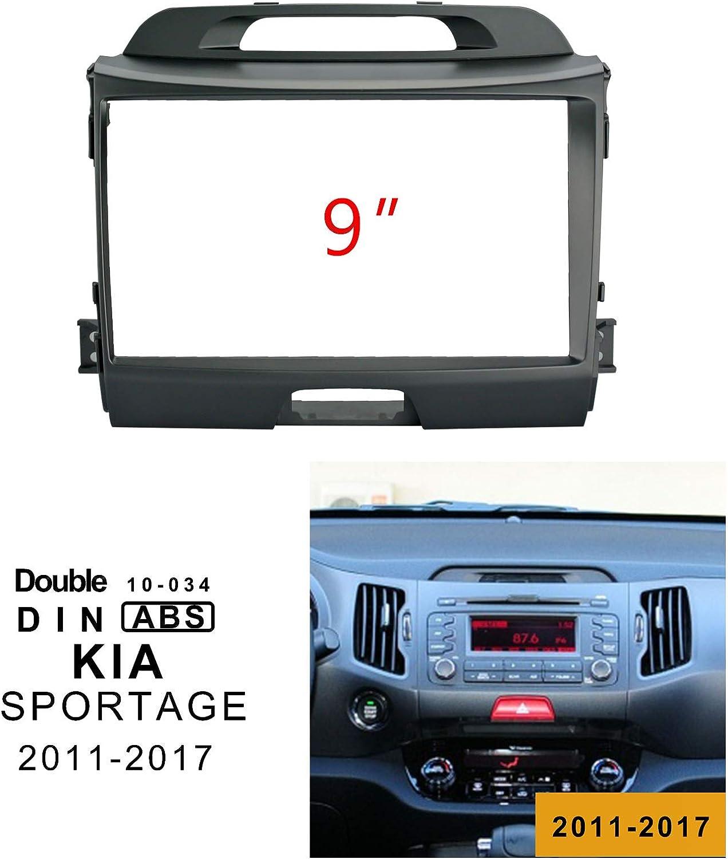 Lexxson Fa/çade dautoradio pour autoradio avec /écran de 9 Pouces pour Kia Sportage 2011-2017